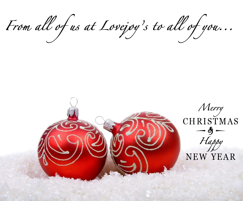 Merry Christmas & Happy New Year – Lovejoy\'s Restaurant & Tearoom